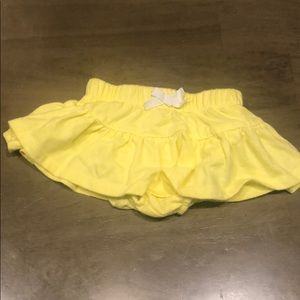 cat and jack yellow skirt 3-6 month